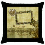 A Magical Moment gold throw pillow case - Throw Pillow Case (Black)