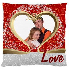 Love By Wood Johnson   Large Cushion Case (two Sides)   Trbanjznvv1g   Www Artscow Com Back