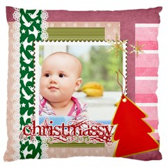 Christmas By Clince   Large Cushion Case (two Sides)   5czhrh3nqd64   Www Artscow Com Front