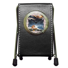 Stormy Twilight Ii [framed]  Stationery Holder Clock
