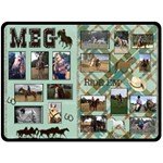 meg - Fleece Blanket (Large)