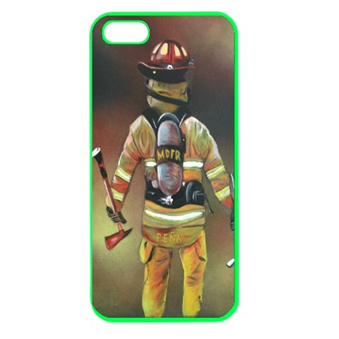 Firefighter  By William   Apple Seamless Iphone 5 Case (color)   Jf20aumacql3   Www Artscow Com Front