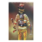 Firefighter Curtain - Shower Curtain 48  x 72  (Small)