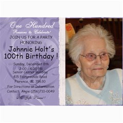 100th Birthday By Angie   5  X 7  Photo Cards   0om9mgrt7ein   Www Artscow Com 7 x5  Photo Card - 1