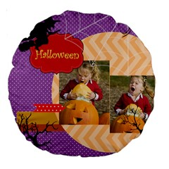 Helloween By Helloween   Large 18  Premium Round Cushion    Msufnt1gk9e7   Www Artscow Com Back