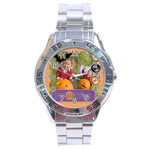Helloween Fall By Helloween   Stainless Steel Analogue Watch   Zi39agriade6   Www Artscow Com Front