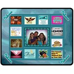 Bible quotes collage medium blanket - Fleece Blanket (Medium)
