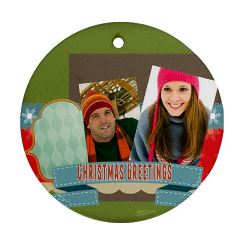 Merry Christmas By Merry Christmas   Ornament (round)   Ocuhtl8j5phl   Www Artscow Com Front