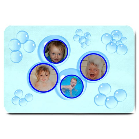 Bubbles Bath Mat, Large By Joy Johns   Large Doormat   2dl55mgcnijl   Www Artscow Com 30 x20 Door Mat - 1