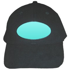 Celeste To Turquoise Gradient Black Baseball Cap by BestCustomGiftsForYou
