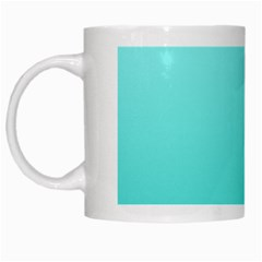 Celeste To Turquoise Gradient White Coffee Mug by BestCustomGiftsForYou