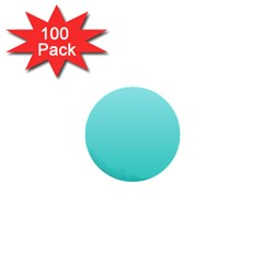 Celeste To Turquoise Gradient 1  Mini Button (100 Pack) by BestCustomGiftsForYou