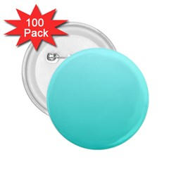 Celeste To Turquoise Gradient 2 25  Button (100 Pack) by BestCustomGiftsForYou