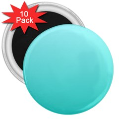 Celeste To Turquoise Gradient 3  Button Magnet (10 Pack) by BestCustomGiftsForYou