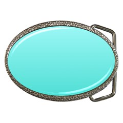 Celeste To Turquoise Gradient Belt Buckle (oval)