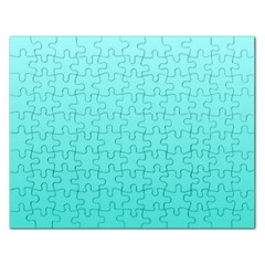 Celeste To Turquoise Gradient Jigsaw Puzzle (rectangle) by BestCustomGiftsForYou