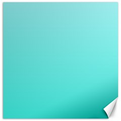 Celeste To Turquoise Gradient Canvas 12  X 12  (unframed) by BestCustomGiftsForYou