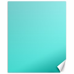 Celeste To Turquoise Gradient Canvas 16  X 20  (unframed) by BestCustomGiftsForYou