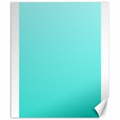Celeste To Turquoise Gradient Canvas 20  X 24  (unframed) by BestCustomGiftsForYou