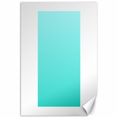 Celeste To Turquoise Gradient Canvas 24  X 36  (unframed)