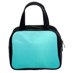 Celeste To Turquoise Gradient Classic Handbag (two Sides) by BestCustomGiftsForYou