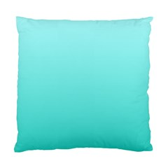 Celeste To Turquoise Gradient Cushion Case (two Sides) by BestCustomGiftsForYou