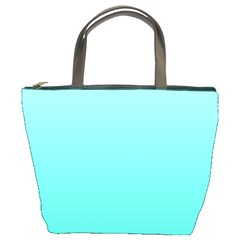 Celeste To Turquoise Gradient Bucket Bag by BestCustomGiftsForYou