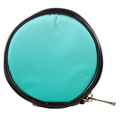 Celeste To Turquoise Gradient Mini Makeup Case by BestCustomGiftsForYou