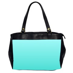 Celeste To Turquoise Gradient Oversize Office Handbag (two Sides) by BestCustomGiftsForYou