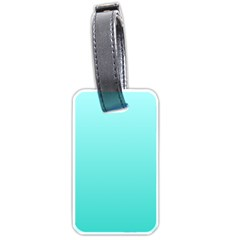 Celeste To Turquoise Gradient Luggage Tag (two Sides) by BestCustomGiftsForYou