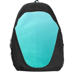 Celeste To Turquoise Gradient Backpack Bag by BestCustomGiftsForYou