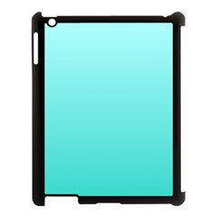 Celeste To Turquoise Gradient Apple Ipad 3/4 Case (black) by BestCustomGiftsForYou