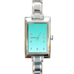 Turquoise To Celeste Gradient Rectangular Italian Charm Watch by BestCustomGiftsForYou