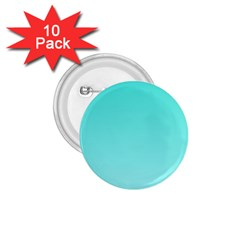 Turquoise To Celeste Gradient 1 75  Button (10 Pack) by BestCustomGiftsForYou