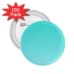 Turquoise To Celeste Gradient 2 25  Button (100 Pack) by BestCustomGiftsForYou