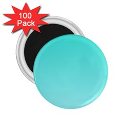 Turquoise To Celeste Gradient 2 25  Button Magnet (100 Pack) by BestCustomGiftsForYou