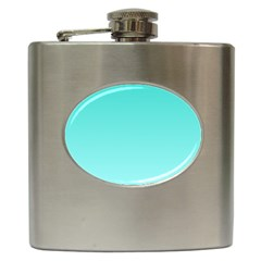 Turquoise To Celeste Gradient Hip Flask