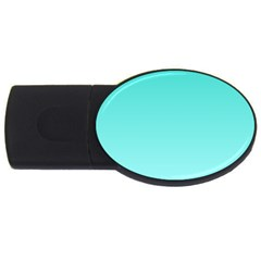 Turquoise To Celeste Gradient 2gb Usb Flash Drive (oval) by BestCustomGiftsForYou