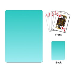 Turquoise To Celeste Gradient Playing Cards Single Design by BestCustomGiftsForYou