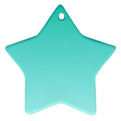 Turquoise To Celeste Gradient Star Ornament (two Sides)