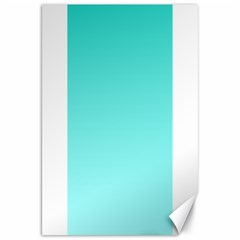 Turquoise To Celeste Gradient Canvas 20  X 30  (unframed) by BestCustomGiftsForYou