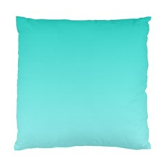 Turquoise To Celeste Gradient Cushion Case (one Side) by BestCustomGiftsForYou