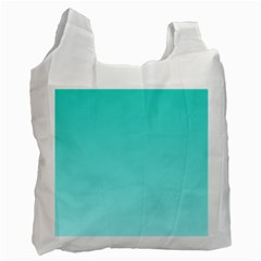 Turquoise To Celeste Gradient Recycle Bag (one Side) by BestCustomGiftsForYou