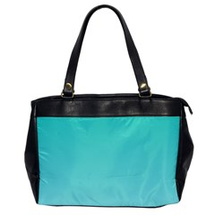 Turquoise To Celeste Gradient Oversize Office Handbag (one Side) by BestCustomGiftsForYou