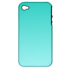 Turquoise To Celeste Gradient Apple Iphone 4/4s Hardshell Case (pc+silicone) by BestCustomGiftsForYou