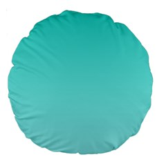 Turquoise To Celeste Gradient 18  Premium Round Cushion  by BestCustomGiftsForYou