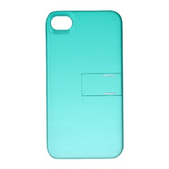 Turquoise To Celeste Gradient Apple Iphone 4/4s Hardshell Case With Stand by BestCustomGiftsForYou