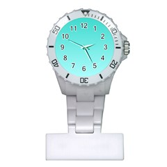 Turquoise To Celeste Gradient Nurses Watch by BestCustomGiftsForYou