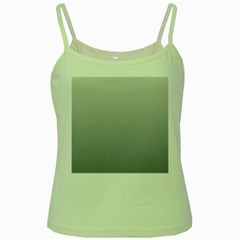 Gainsboro To Roman Silver Gradient Green Spaghetti Tank by BestCustomGiftsForYou