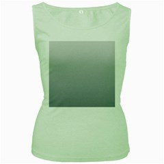 Gainsboro To Roman Silver Gradient Womens  Tank Top (green) by BestCustomGiftsForYou